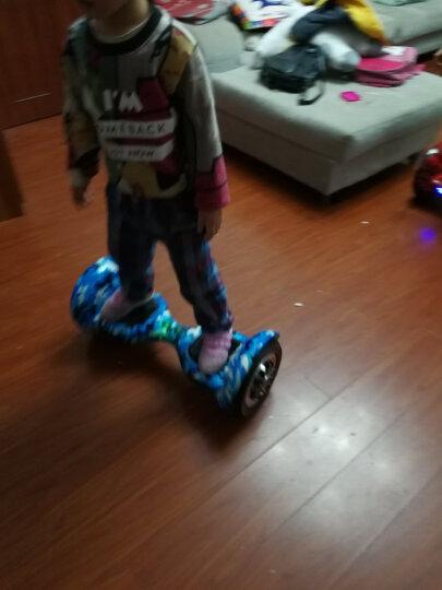 龙吟 电动扭扭车滑板车成人智能漂移思维代步车儿童平衡车双轮思维车 10寸涂鸦款+续航45KM+LED双炫灯 晒单图