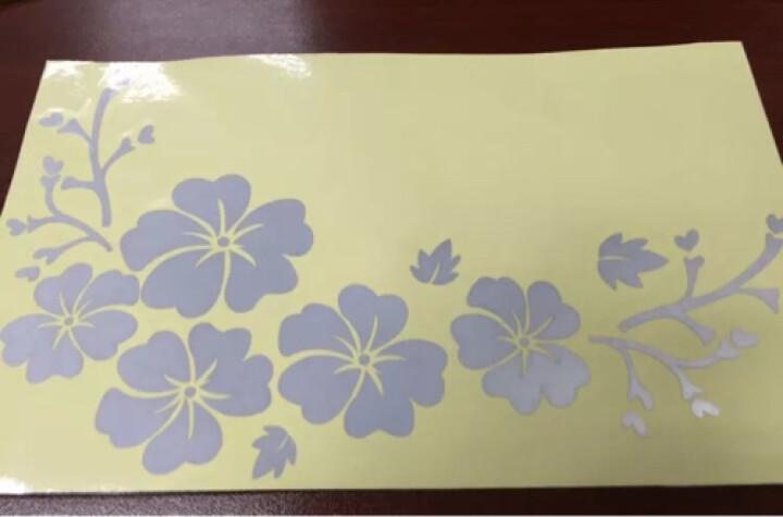 翼贴 花纹遮挡划痕随意贴笔记本旅行箱包汽车装饰 花朵三 反光红 小 晒单图
