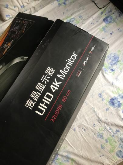 LG 32UD99-W 31.5英寸UHD 3840x2160超高清4K 四面窄边框IPS硬屏低闪屏显示器 白色 晒单图