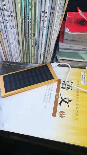闪步50000M大容量移动电源超薄小巧太阳能充电宝OPPO苹果快充通用双向快充VIVO20000毫安 无太阳能(金色)+充电器 晒单图