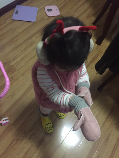 kk树 kocotree 儿童耳罩冬季保暖男童女童可爱护耳罩宝宝耳套韩版潮四色 KQ13072 粉色 均码 晒单图