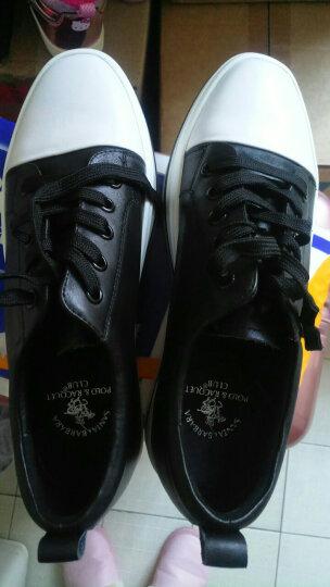 圣大保罗女鞋 内增高小白鞋女厚底松糕韩版学生系带百搭潮休闲鞋板鞋  白色 36 晒单图