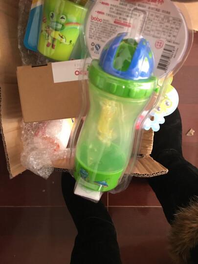 乐儿宝(bobo)儿童吸管杯 学生防漏水杯多功能杯带水壶(400ml绿色) 晒单图