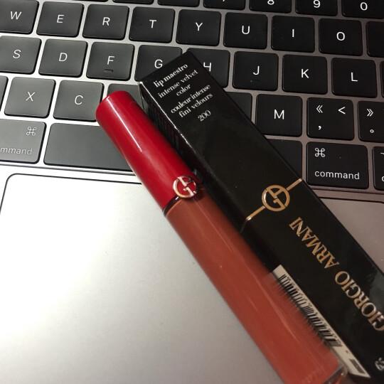 阿玛尼(ARMANI) Lip Maestro 红管丝绒哑光唇釉 小胖丁唇釉 唇蜜 401# 亮红高跟鞋 晒单图