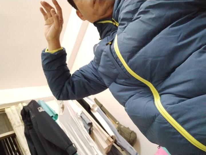 李宁 羽绒服男装冬季新款男子训练系列防风保暖加厚短款羽绒服 暗悠蓝075 M/170 晒单图