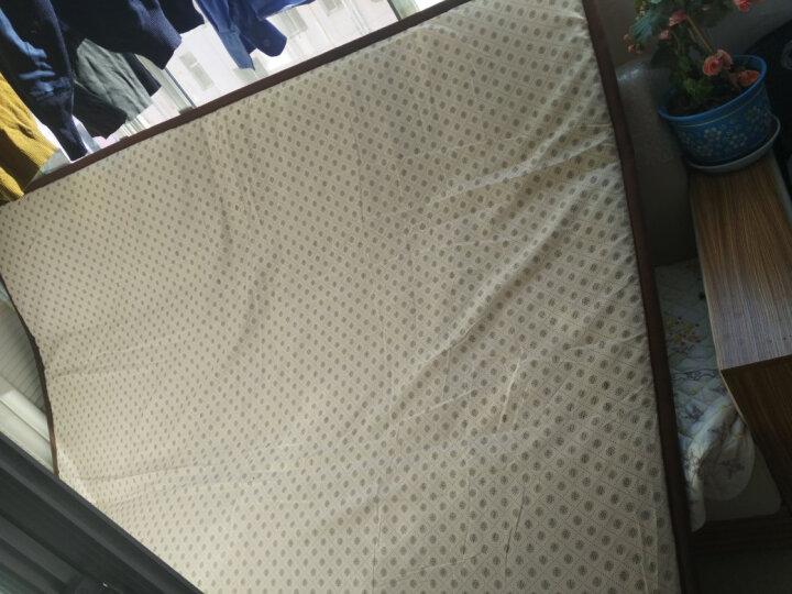 床垫 褥子 床垫子1.8m 床褥子 1.5m双人垫被学生宿舍床垫 榻榻米床垫 4D宽边绿色 150*200cm 晒单图
