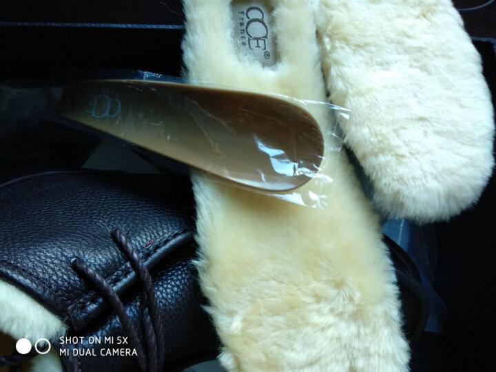 冬款上新CCE羊皮毛一体透气鞋垫羊毛保暖男女款加厚鞋垫 晒单图