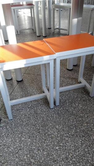 铭拓 家具中小学生课桌椅彩色少儿美术桌组合培训书桌幼儿园辅导班教学桌梯形桌洽谈桌椅 单张半圆形半径60 晒单图