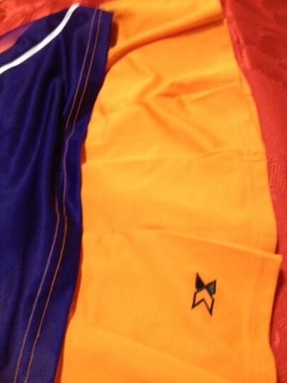 xzito羽毛球服男女套装圆领短袖情侣款乒乓球服网球服短袖t恤修身休闲运动服橙色 女橙色上衣/黄边短裤 M 晒单图