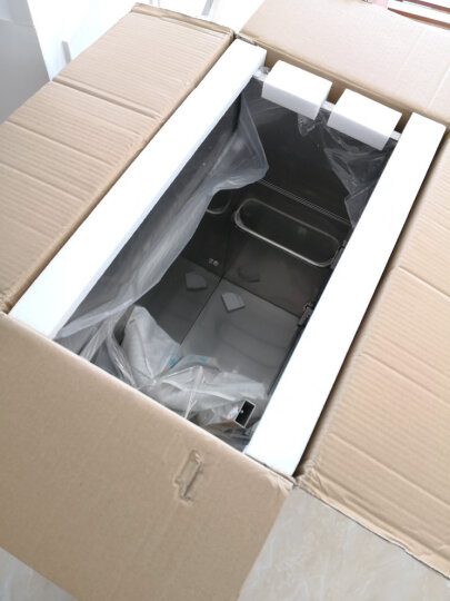格雷诺 不锈钢滚筒洗衣机柜带搓板阳台洗衣机柜石英石洗衣池盆浴室柜组合 白色柜/1.5米右白盆 晒单图
