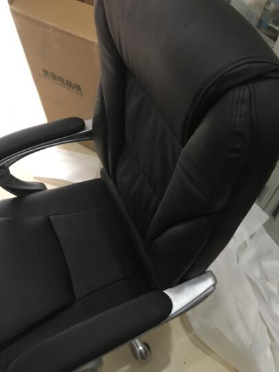 绿豆芽 电脑椅 家用 可躺老板椅 办公椅 皮椅 可选牛皮椅子 人体工学转椅座椅D1518 米色牛皮+150度可躺 钢制脚 晒单图