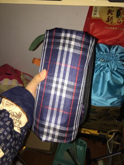 绒面野餐垫地垫防潮垫 户外露营垫200*200加大加厚爬行垫 藏青(腈纶) 晒单图
