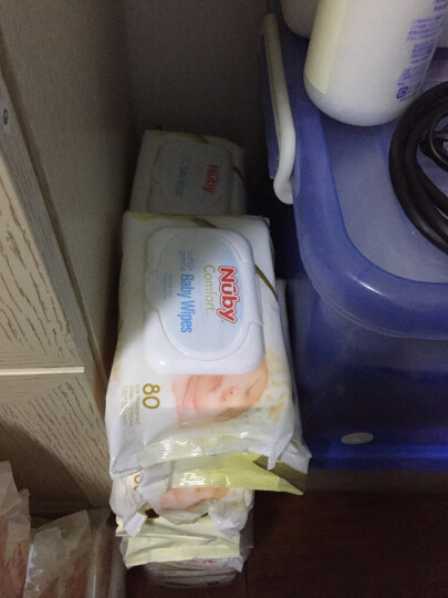 【京东超市】美国努比(Nuby)宝宝湿巾 婴儿湿纸巾 新生儿童柔湿巾 80抽(整箱24包) 995 晒单图