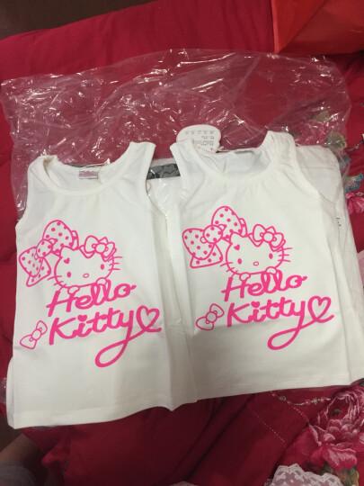 凯蒂猫儿童背心HelloKitty女童吊带宝宝T恤内衣中大童汗衫夏新款棉质 KT5057C果绿 110 晒单图