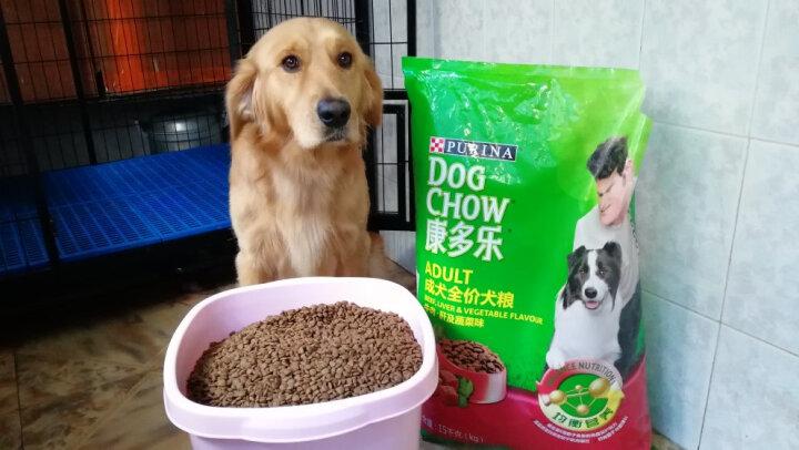 康多乐(DOG CHOW)宠物成犬狗粮 全犬型8kg 牛肉蔬菜味 晒单图