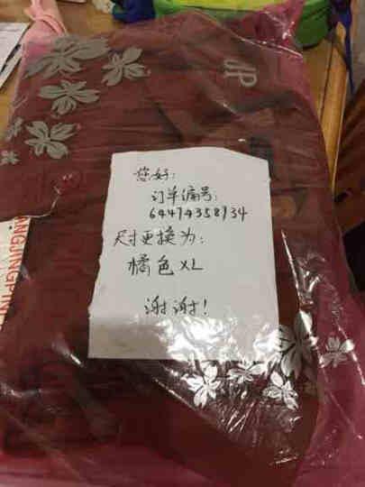 尹沐妈妈装毛呢外套中老年女装春装呢子短款外套C462-2 橘色(加绒加毛领款) 2XL(建议115-130斤) 晒单图