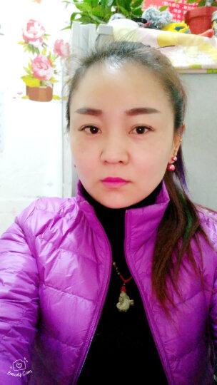 艾洛拉 轻薄羽绒服女2018秋冬女装新品立领时尚个性韩版修身显瘦短款外套潮 深紫色 M 晒单图