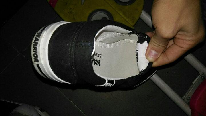 回力男鞋新款男士纯色帆布鞋男韩版套脚鞋低帮休闲鞋夏季懒人男式透气潮板鞋 黑底黑色 39 晒单图