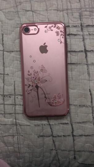 金缔斯(Kingxbar) 苹果7水钻手机壳7plus女透明全包防摔适用于iPhone7 4.7iphone7水晶鞋钢琴黑-踏雪 晒单图