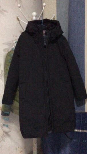 AEMAPE 羽绒服男中长款冬季青少年学生加厚上衣2017新款韩版宽松外套潮 178-118黑色 XL(180) 晒单图