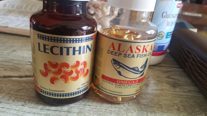 【拍3免1,热卖上万瓶】美国阿拉斯加深海鱼油软胶囊100粒/瓶大豆卵磷脂 3瓶加强装(降血压降血脂) 晒单图