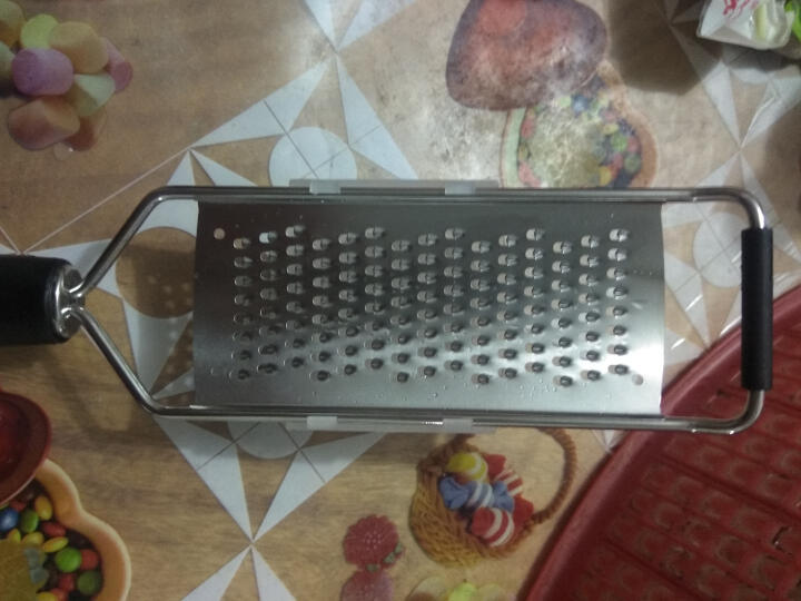 onlycook 细丝不锈钢刨丝器 优质刀片 柠檬皮擦丝器 芝士奶酪抛 萝卜土豆丝 大孔6mm送护手器 晒单图