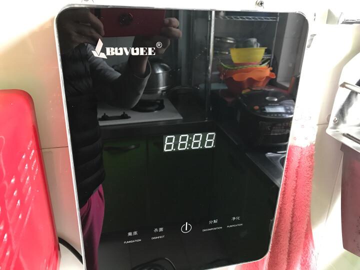 百易 【送煮蛋器】果蔬清洗机 家用全自动厨房水果蔬菜机 洗菜机 红色 晒单图