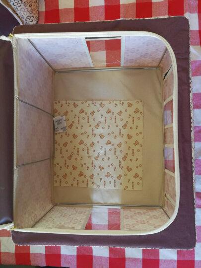 百草园 牛津布三面可视收纳箱 衣服杂物整理箱储物箱 大号60L 1个装 咖啡色 晒单图