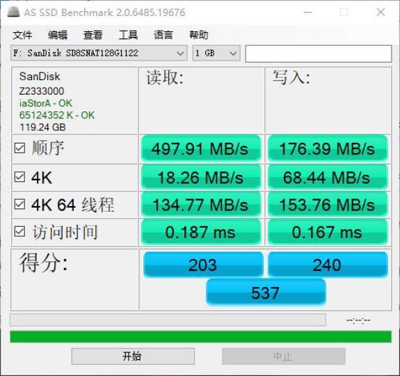 闪迪(SanDisk) Z400s系列 台式机笔记本M.2 ngff 固态硬盘MLC颗粒 M.2 2280 128G 晒单图