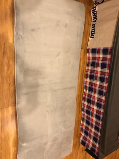 小冰人 珊瑚绒地毯 客厅沙发茶几卧室房间床边毯 榻榻米宝宝爬行垫门垫 粉红 1.6*2.3米 晒单图