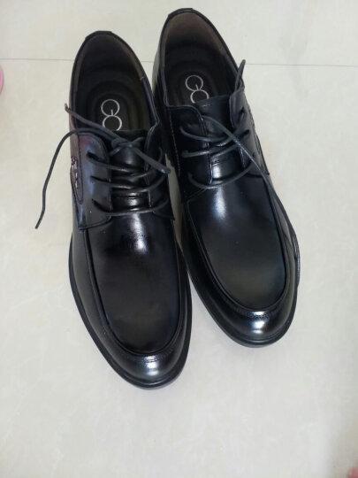 高哥增高鞋男 男士正装皮鞋 内增高男鞋8cm 6.5cm头层牛皮 棕色7.5CM 42 晒单图