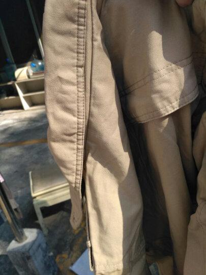 COROROOA 风衣男 加绒加厚2017新款冬季外套男神休闲韩版修身男士纯棉中长款衣服 黑色 4XL 晒单图
