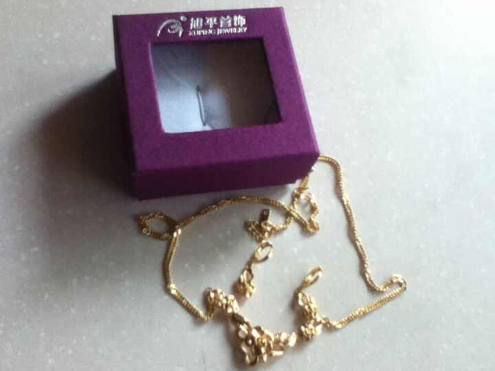 xupingjewelry首饰 复古宫廷花朵婚庆套装项链耳环 镀金时尚配饰 富贵花 24k金色 晒单图