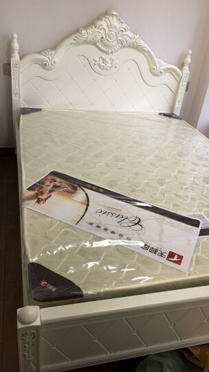 佐派尚品 欧式床实木双人床韩式公主床皮床婚床简欧和1.8米高箱储物床卧室家具组合 X01床+2床柜+床垫+妆台+凳 1800*2000 晒单图