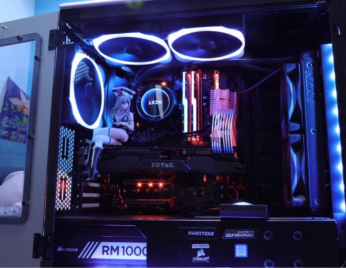 追风者(PHANTEKS) 515E流光银ATX 全铝外壳电竞水冷机箱(支持2x280水冷/铰链式铝侧板/配3把静音风扇) 晒单图