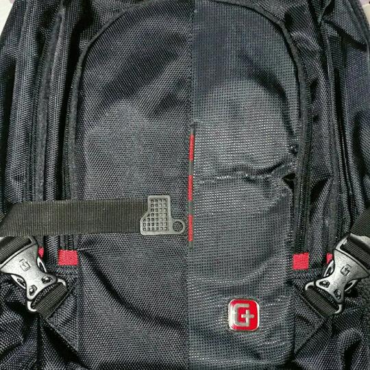 SWISSGEAR电脑双肩包男 防泼水商务款15.6英寸双肩笔记本电脑包 男女学生书包背包 SA-0077黑色 晒单图