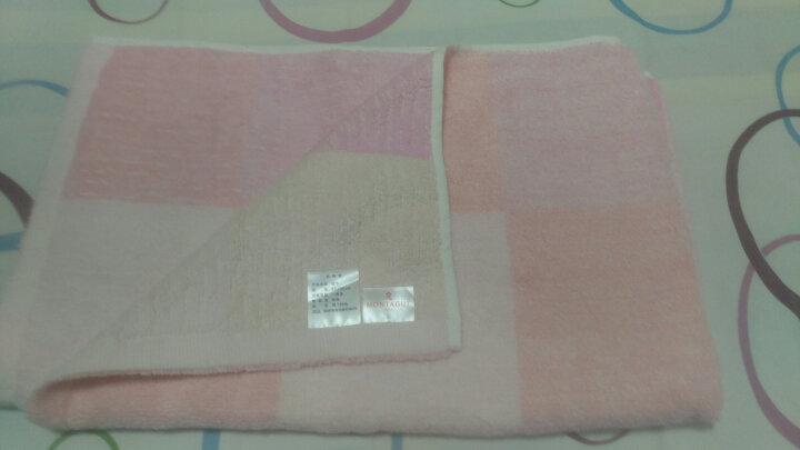 梦特娇(Montagut)毛巾家纺 纯棉素色无捻纱枕巾一对2条装 加厚加大 柔软耐用 粉色 140g/条 50*80cm/条 晒单图
