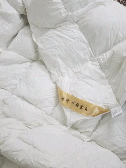 鸿润 优雅宝贝 被芯家纺 90%白鹅绒被子 加厚保暖羽绒被芯 双人冬被 浅灰 200*230cm 晒单图
