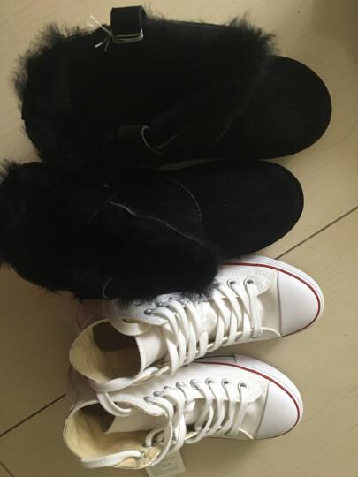 Vancl凡客诚品休闲鞋2 女款 雪地靴|反绒羊皮鞋面 全羊毛内里 时尚素色保暖雪地靴女 黑色 38 晒单图