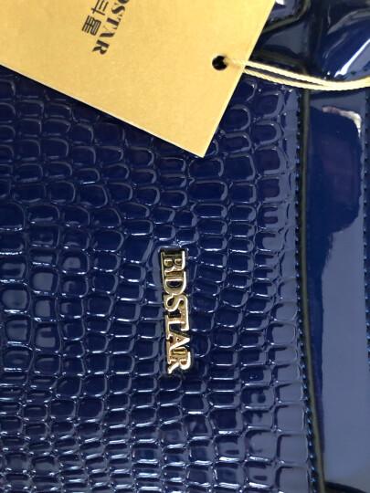 北斗星 子母包女包2018新款五件套女士包包秋冬季鳄鱼纹手提斜挎欧美时尚休闲单肩包 156黄色 晒单图
