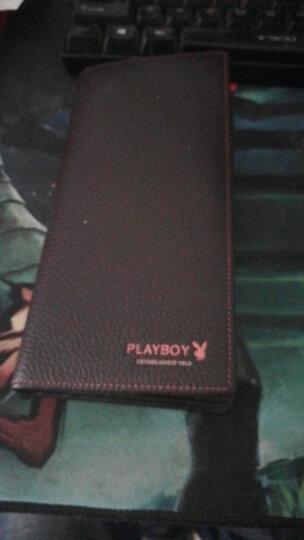 花花公子playboy 男士钱包长款牛皮革竖款卡包多功能多卡位休闲钱夹PAA5981-6C 啡色 晒单图