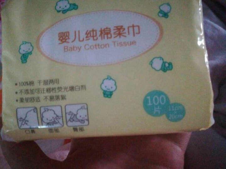 全棉时代 婴儿棉柔巾擦脸巾洗脸巾一次性抽纸巾毛巾干湿两用6包 晒单图