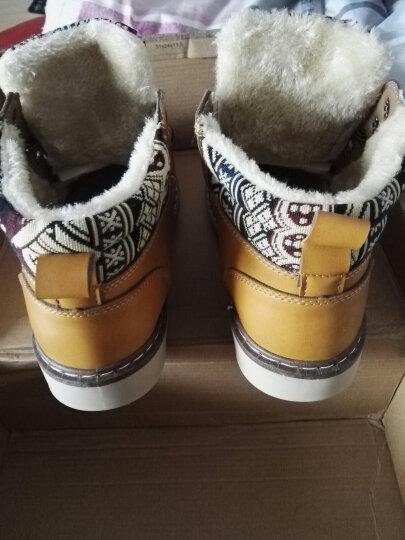 九缨斯 冬季男靴保暖加绒雪地靴秋季新款马丁靴男户外男士高帮棉鞋靴子男 888棕色(不加绒) 43 晒单图