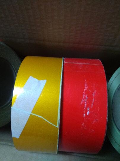 反光警示带反光膜交通膜安全带反光条警戒贴路边反光贴道路工程应急反光胶带 纯黄色 5公分*45.7米 晒单图