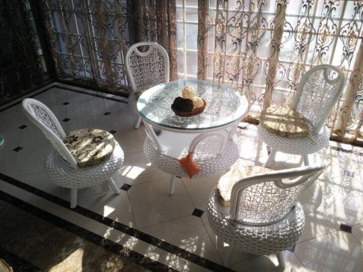 依藤乐家真藤编阳台桌椅组合家具客厅卧室创意休闲椅简约欧式转椅天然室内小藤椅子茶几三五件套 单个大茶几(木架包装后发货) 晒单图