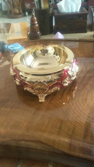 就爱我吧 烟灰缸 大号复古烟灰缸创意个性时尚复古欧式烟灰缸 多尺寸可选 金白珠点(直径17.5cm) 晒单图