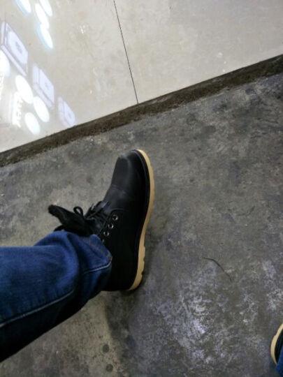 北极绒 男鞋秋冬季平板鞋子男韩版潮流男士休闲鞋男懒人鞋布鞋男 黑色百搭款 41 晒单图