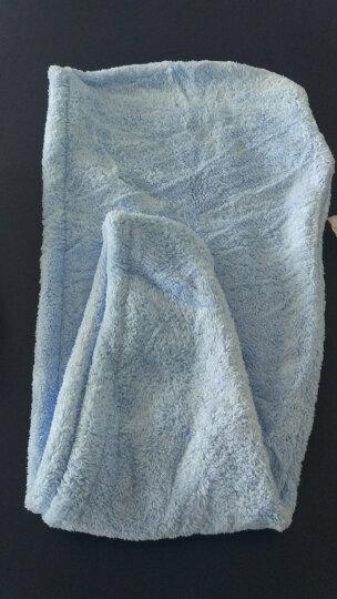 三利 雪绒超柔干发帽3条装 25x65cm 强吸水不易掉毛干发巾 单条均独立包装 淡紫+天蓝+西瓜红 晒单图