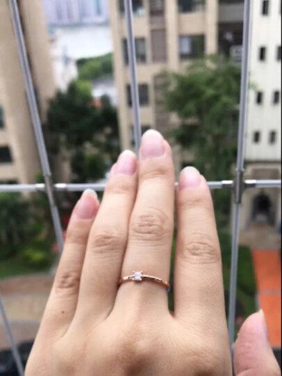 TSL谢瑞麟 钻石戒指 18k金钻戒公主方形钻石戒指(约4分钻,1颗) BB052 12# 晒单图