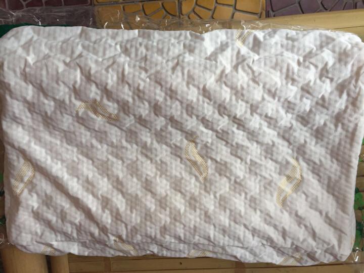 Nsaglam泰国乳胶枕头橡胶枕头枕芯天然进口纯乳胶透气方枕成人颈椎枕按摩颗粒 晒单图